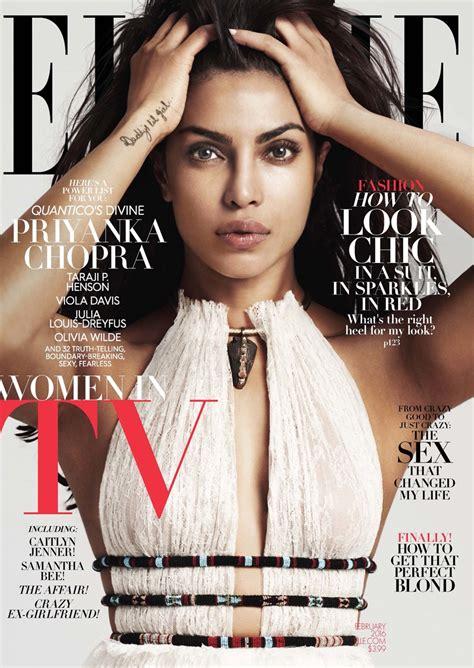 Elle February 2016 Covers Taraji P Henson, Priyanka Chopra