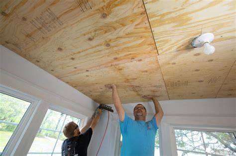 How to Install a Reclaimed Wood Ceiling Treatment   how