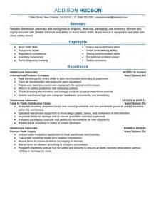good resume objectives for entry level sales engineer warehouse associate resume exle
