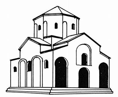 Monastery Drawing Altar Church Holy God Clipartmag