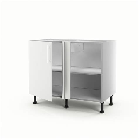 meubles d angle cuisine meuble de cuisine bas d 39 angle blanc 1 porte délice h 70 x