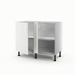 meuble de cuisine bas d39angle blanc 1 porte delice h70 x With meuble d angle cuisine leroy merlin