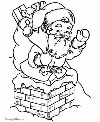 Santa Coloring Pages Christmas Sheets Elves Claus