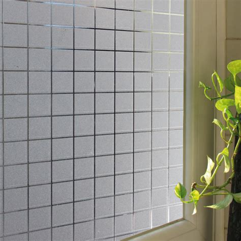 removable privacy window slef static cling removable decorative vinyl white frosted 4700