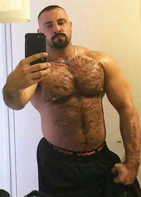 Hairy Chest Sexy Muscle Mature Men Bearsandcubs