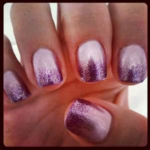Light lavender/silver purple ombre gel mani - by Sophia - Yelp