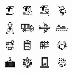 Delivery icons set Vector | Free Download