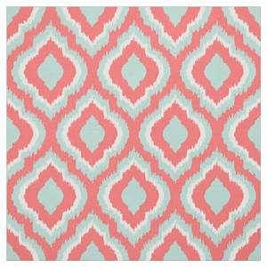 mint and coral ikat moroccan fabric zazzle With ikat fabric coral