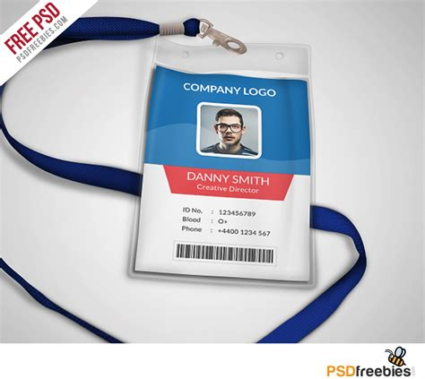 multipurpose company id card  psd template