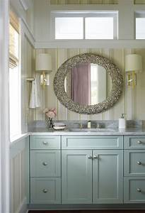 coastal vanity mirrors design ideas With kitchen colors with white cabinets with laura ashley wall art