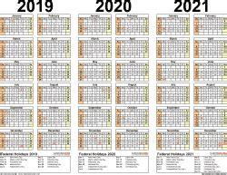 calendar year printable excel calendars