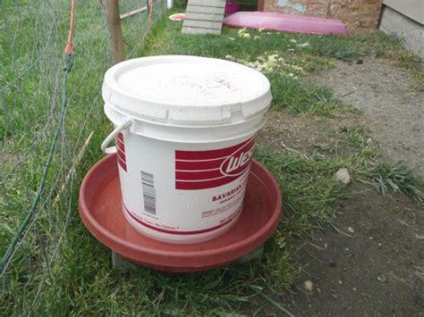 diy chicken feeder tylermckee s chicken feeder backyard chickens