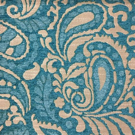 Upholstery Fabric Sydney by Sydney Modern Paisley Pattern Textured Chenille
