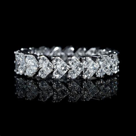 ct diamond  white gold eternity wedding band ring