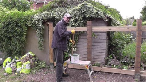 How To Build Backyard Fence by Diy How To Build A Cheap Strong Garden Fence Pt 1