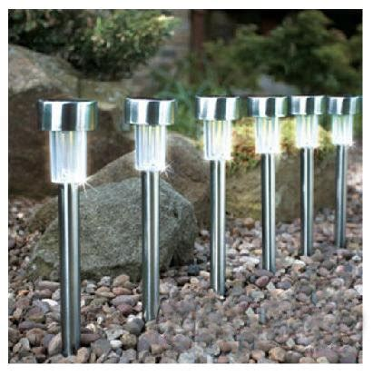 stainless steel solar lawn light for garden decoratives