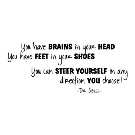 brains dr seuss wall quotes decal wallquotescom