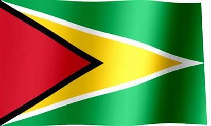 Guyana Flag Waving Animated Flags