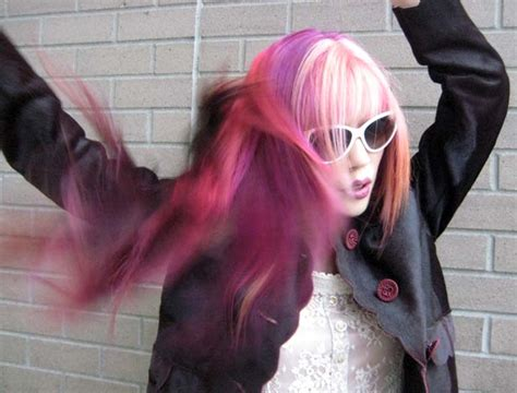 Candy Pink Streaked Hair Harajuku Cute Hairstyle Dolce