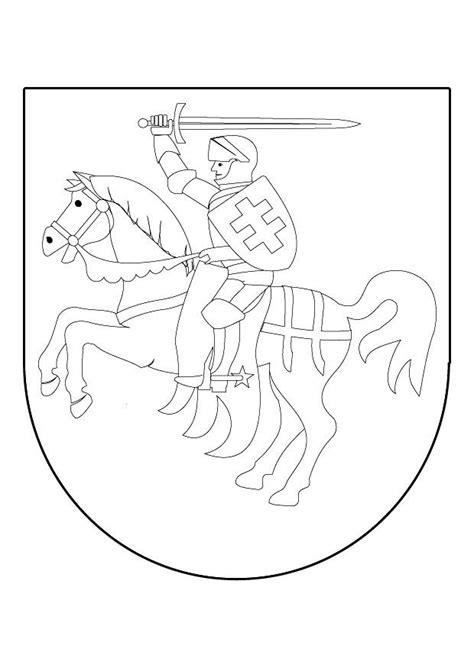 Wapenschild Kleurplaat by Kleurplaat Ridder Te Paard In Schild Afb 9839 Images