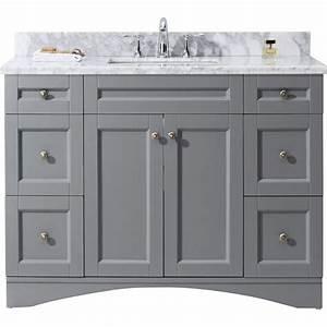 Virtu USA Elise 48 In W X 22 In D Vanity In Grey With