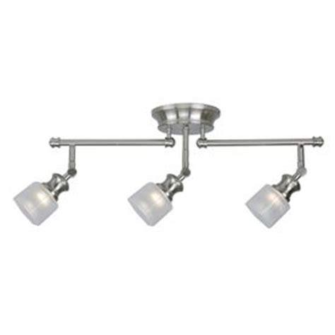 kitchen track lighting kits allen roth 3 light brushed nickel fixed track light kit 6319