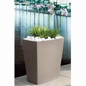 Bac à Fleurs : bac fleurs reverso r sine l59 h65 cm taupe plantes et jardins ~ Teatrodelosmanantiales.com Idées de Décoration