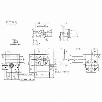 Dimensional Drawings Tool S055 Indexing Rotary
