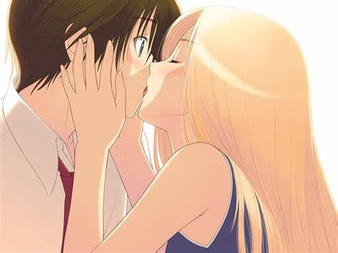 Cute Animated Blondes Take Sex top ten kisses in anime