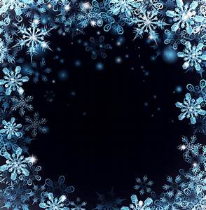 christmas, snow, frame, with, dark, blue, background, vector, free, download
