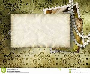 Vintage Background With Pearls Stock Illustration - Image ...