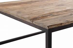 Table Bois Metal Extensible : table basse industrielle en m tal et bois tb02 rose moore ~ Teatrodelosmanantiales.com Idées de Décoration