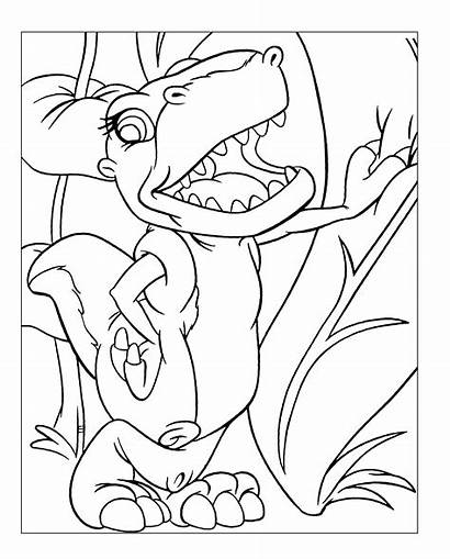 Land Coloring Before Pages Foot Chomper Dinosaur