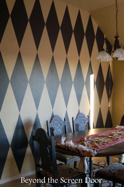 paint  harlequin diamond wall sonya hamilton designs
