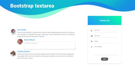 bootstrap textarea exles tutorial basic advanced