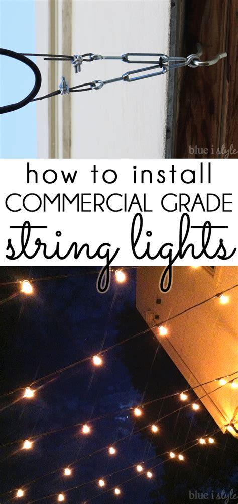 how to put outdoor lights on a timer outdoor style how to hang commercial grade string lights
