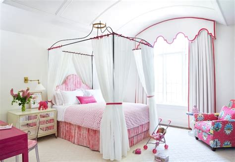 Princess Canopy Bed  Transitional  Girl's Room Anne