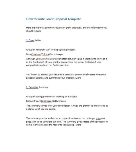 Writing A For Funding Template by 40 Grant Templates Nsf Non Profit Research
