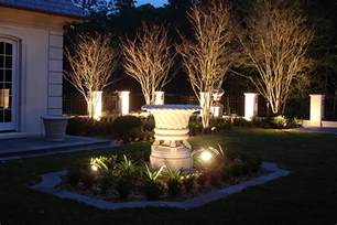 landscape lighting design installation st louis dusk
