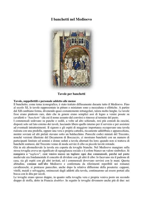 Banchetti Medievali by I Banchetti Nel Medioevo By Maurizio Cal 236 Issuu