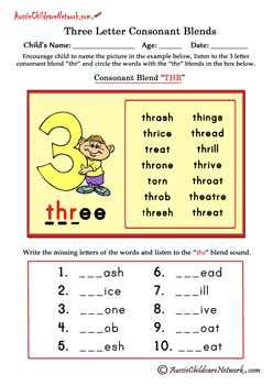 letter consonant blends teaching phonatics consonant