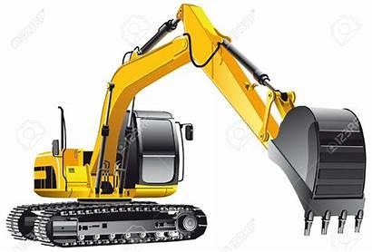 Excavator Clipart Backhoe Bucket Vector Yellow Background