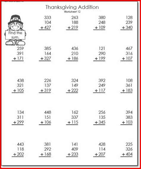 counting number worksheets 187 thanksgiving math worksheets