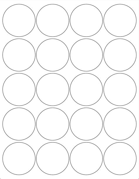 Avery Round Labels Template Image Collections Template Design Free