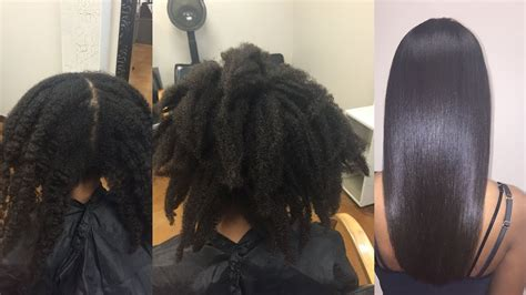 natural hair brazilian blowout haircut youtube