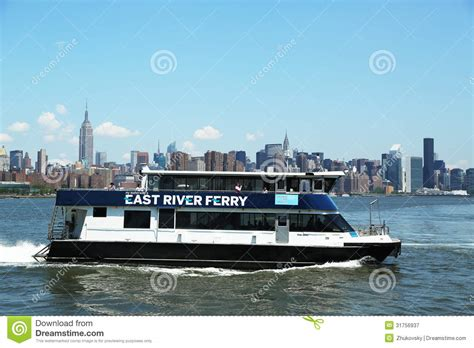 Ferry Boat Rides Nyc by East River Ferry Boat Rides In Midtown Manhattan Editorial