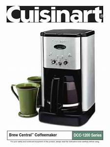 Cuisinart Dcc 1200 Coffee Maker Download Manual For Free