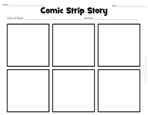 i 2 teach literacy centers free printable comic story printable for visualizing