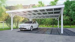 Moderne Carports Mit Glasdach : solarcarport ab 0 aus holz alu oder stahl 30 jahre garantie ~ Markanthonyermac.com Haus und Dekorationen