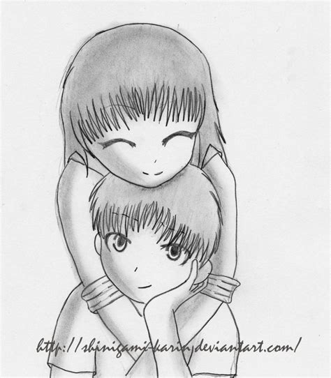 anime couple draw little cute couples simple drawing how to draw chibi